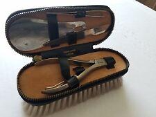 VINTAGE Travel Shoe Leather Cleaning Kit Brush AUSTRIA