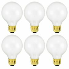 Philips G25 Frosted Vanity Globe Light Bulb 25W E26 Base 130 Volts 6 Pack