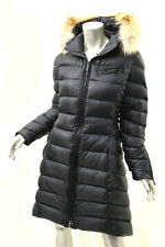 DAWN LEVY Abyss Bee Coyote Fur-Trimmed Puffer Coat M $ 1198