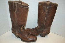 Ariat Womens Rowan Harness WESTERN BROWN LEATHER Boot SZ 7 M Square Toe 10021659