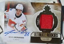 /25 SEAN MONAHAN ULTIMATE ROOKIES JERSEY SHOULDER CANADA PATCH AUTO 2013 13 14