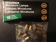 SYLVANIA 47 Miniature Vintage Radio Lamps Bulbs (Pack Of 10)