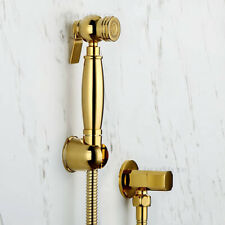 Gold Bidet Shower Set Toilet Shattaf Hand Spray Bathroom Douche Cleaning Faucet
