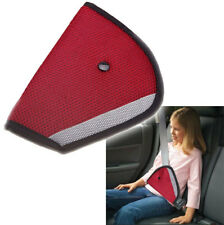 Universal Red Triangle Child Car Safety Belt Adjuster Pad ~RED
