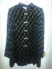 Georgeous JBS LTD Glitter Tunic Top Jacket~Size 20W~Black w/Gold Glitter NWOT