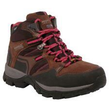 Botas de mujer senderismo planos de color principal marrón