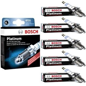 5 Bosch Platinum Spark Plugs For 2006-2013 VOLVO C70 L5-2.5L