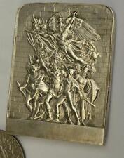 Silvered Bronze Art medal,plaque,  by Dubois Marseillaise 39x50mm