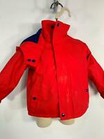 BOYS PANDEMONIUM RED PADDED WINTER HOODED RAIN COAT JACKET KIDS AGE 6/9 MONTHS