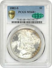 1882-S $1 PCGS/CAC MS68+ Tied for Finest! - Morgan Silver Dollar