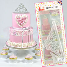 2pc Crown Plastic Fondant Cutter Cake Mold Fondant Cupcake Décoration Outils SET