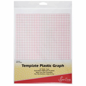 Sew Easy Plastic Printed Graph Template 7mm Grid  280 x 215mm 2 sheets