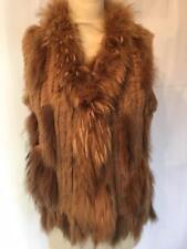 MacLauren 100% rabbit fur gilet HX12  Size m-L uk12-14 ref LDP