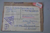 DDR 1977 Paketschein R-Peine 1 mit Zoll-stempel Postzollamt Felkenberg