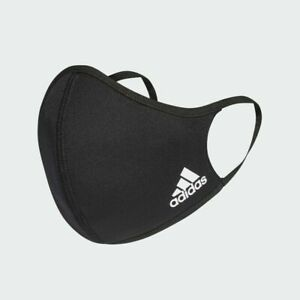 1 SMALL ADIDAS FACE MASK COVER 100% AUTHENTIC BLACK