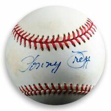 Lonny Frey Signed Autographed Official NL Baseball Brooklyn Dodgers Felt COA