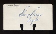 Gary Player Signed Card Autographed Golf Cut Signature on Index Card Paper