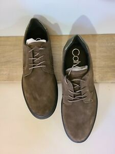 Calvin Klein Men Gleyber Silky Suede Casual Lace Up Size US 12M - Camo Colored