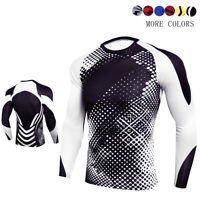 Men's Camouflage T-Shirt Compression Running Long Sleeve Quick Dry Active Top