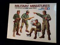 "Tamiya Military Miniatures 1/35 Scale ""U.S. Army Tank Crew"" NEW sealed free ship"