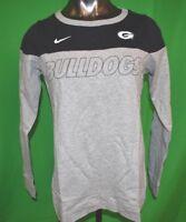 Nike NCAA Womens Geoergia Bulldogs Crew Shirt NWT $50 S, M, L, XL