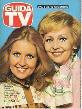 rivista GUIDA TV ANNO 1977 NUMERO 45 ROBERTA GIUSTI E ANNA MARIA GAMBINERI