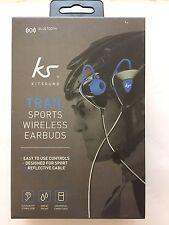 KitSound Trail Sports Bluetooth Wireless In-Ear Earphones Black/Blue New