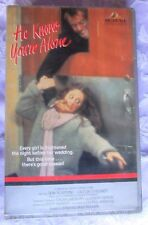 HE KNOWS YOU'RE ALONE MGM PRE CERT VHS PAL BIG BOX EX RENTAL TOM HANKS 1ST ROLE!