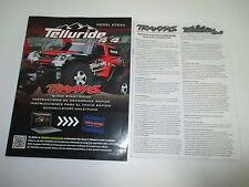 Traxxas 1/10 Telluride 4X4 Truck 67044 Instruction Manual Book ONLY OZ RC Models