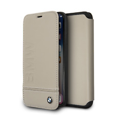 Genuine BMW Signature Logo Leather Book Case for iPhone X