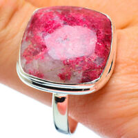 Large Thulite 925 Sterling Silver Ring Size 13.5 Ana Co Jewelry R34404F