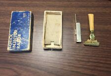 Vintage Schick Injector Razor and Original Box Off White Handle Collectible