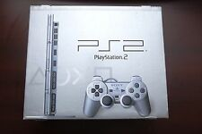 Playstation 2 Slim Silver Console Boxed SCPH-75000 Japan PS2 System US Seller