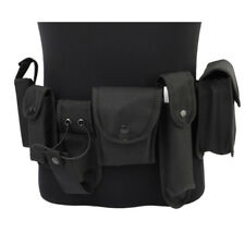 Black Tactical Security SWAT Police Utility Duty Belt w/ 7 Pouches Gun Holster