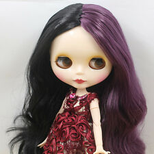 """12""""Neo Blythe Doll Mix Purple&Black Hair from Factory Joint Body Nude Doll 98011"""