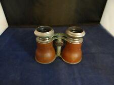 Antique LE JOCKEY CLUB Paris Brown Leather Opera Glass Binoculars