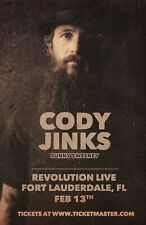 CODY JINKS / SUNNY SWEENEY 2019 FT LAUDERDALE CONCERT TOUR POSTER- Texas Country