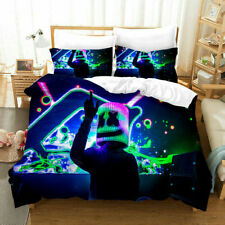 Dj Marshmello Quilt Cover Bedding Set 3Pc Duvet Cover Pillowcase Comforter Cover