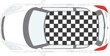 Voiture drapeau à damier - 57 PERSONNE Carré Vinyle Stickers Autocollants pour toit de voiture