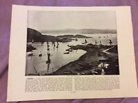 Antique Book Print - Tarbert OR Lydstep - UK - c. 1895