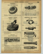 1920 PAPER AD Johnson's Folding Paper Duck Hunting Decoys Carved Cedar Wood