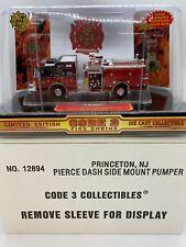 CODE 3 No.12894 Princeton, NJ Fire Dept. Pierce Side Mount Pumper Engine 1:64