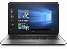 "HP 17 17.3"" Notebook/Laptop Intel Dual Core N3060 8GB 1TB DVDRW WiFi W10 Silver"