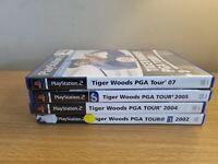 PLAYSTATION 2 - TIGER WOODS GAME BUNDLE - 02, 04,05, 07 - COMPLETE - FREE P&P