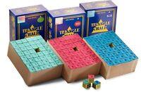 Green Triangle Snooker King Billiard Pool cue tip chalk Blue Red Tweeten 144 box