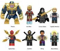 8pcs/set Avengers Infinity War Building Blocks Action Figures Iron Man Thanos