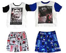 Kinder Sommer 2 Teiler Neu Jungen Bermuda + Shirt Star Wars Shorty Caprihose