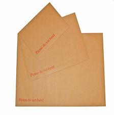 100 C5 A5 HARD CARD BOARD BACK BACKED DO NOT BEND ENVELOPES BROWN 229x162mm post