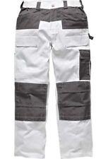 Mens Dickies Trouser Knee Pad Pockets Painters Decorators WD4930 White W30-40