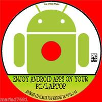 ANDROID APPS ON YR WINDOWS PC / LAPTOP SUPERB ANDROID APP EMULATOR SYSTEM CD NEW